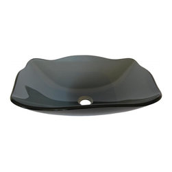 Novatto - RETTANGOLARE Clear Grey Fluted Oblong Glass Vessel Sink, 20 Inches Wide - The Rettangolare is a fluted oblong shaped vessel constructed of clear grey high tempered glass. Truly a favorite, it looks spectacular on cultured marble, granite, or any countertop. Novatto uses advanced technology, including computerized glass processing, to produce unique glass basins with unmatched structural integrity and longevity. Internal testing has found these glass vessels to be very durable and forgiving. Items such as toothbrushes or small jewelry should not scratch the surface. For best cleaning results, a soft cloth with mild soap and water or a non-abrasive glass cleaner is recommended. Made with the highest standards of quality and creative design, Novatto sinks add art and function to any bath or powder room.
