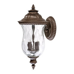 Capital Lighting - Capital Lighting Ashford Traditional Outdoor Wall Sconce X-ST1879 - Whether perched on your porch or above your garage, the Capital Lighting Ashford Traditional Outdoor Wall Sconce - CP-9781TS provides some dreamy sparkle with gorgeous hammered glass that is sure to improve any surface. The rich tortoise finish and detailed accents will incite some well-deserved awe and envy.