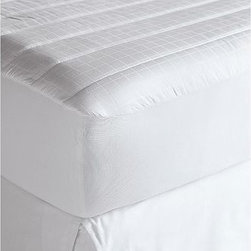Classic Mattress Pad, Twin - Our luxurious mattress pad is made of pure cotton damask with plush, lofty fill for ultimate comfort. 100% cotton. Polyester fill. 300 thread count. Sewn with Bengalore(TM) elastic for a secure fit. Machine wash. Catalog / Internet Only. Imported.