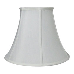 "Home Concept - White Bell Shantung Shade 10"" Top x 20"" - Why Upgrade to LampsUSA.com Signature Shades?"
