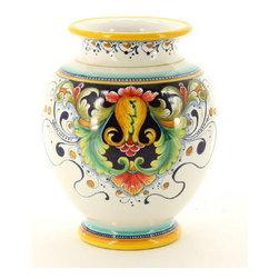 Artistica - Hand Made in Italy - Deruta Glt: Traditional Vase (Dec. 197) - Deruta Vario Collection: