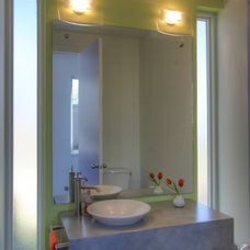 Traditional Powder Room by Richard Wintersole Architect