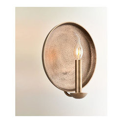 Troy Lighting - Taj Wall Sconce - Taj Wall Sconce features an Antique Brass finish. One 60 watt, 120 volt CA8/Candelabra incandescent bulb is required, but not included. 10.75 inch width x 11.7 inch height x 5 inch depth.