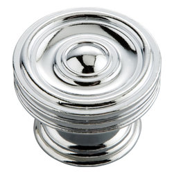 Hickory Hardware - Hickory Hardware 1-5/8 In. Concord Chrome Cabinet Knob - Classic lines, finishes and styles create a warm and comforting feel.  Usually 18th-century English, 19th-century neoclassic, French country and British Colonial revival.  Use of classic styling and symmetry creates a calm orderly look.