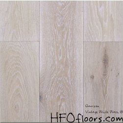 Garrison French Connection - French Connection Vintage White Wash wire-brushed white oak hardwood. Available at HFOfloors.com.