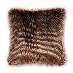 Faux Fur Pillow Cover, Brown Owl Feather - If the actual owl isn't your thing but you like the idea of owls, how about this pillow made of faux owl feathers?
