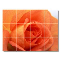 Picture-Tiles, LLC - Flower Photo Shower Tile Mural F053 - * MURAL SIZE: 18x24 inch tile mural using (12) 6x6 ceramic tiles-satin finish.