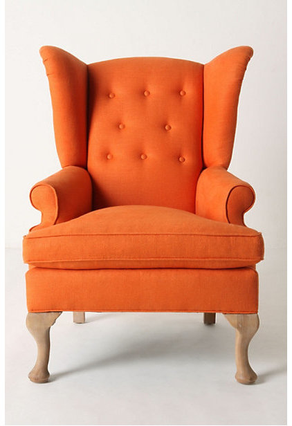 Wingback Upholstered Rocking Chair