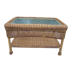 Oakland Living - Oakland Living Resin Wicker Coffee Table in Natural - Oakland Living - Outdoor Coffee Tables - 90027CTNT - About This Product: