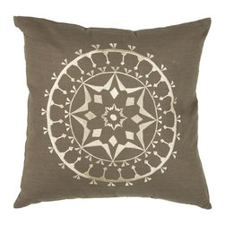 Rizzy Home - Brown and Beige Decorative Accent Pillows (Set of 2) - T03455 - Set of 2 Pillows.