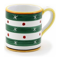 Artistica - Hand Made in Italy - Christmas: Mug 10 Oz. Verde-Green - Christmas Ornament