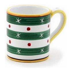 Artistica - Hand Made in Italy - Christmas: Mug 10 Oz. Verde-Green - Christmas Ornament