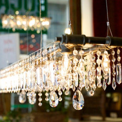Industrial Style Chandelier McHale Tribeca Banqueting -