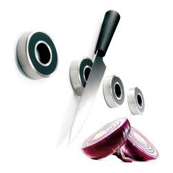 Eva Solo - Eva Solo Knife Magnets - Stainless steel non-skid rubber front magnet knife holder.