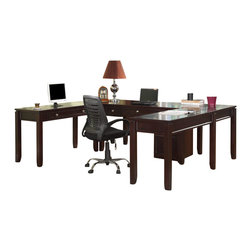 Parker House - Parker House Boston Modular U-Shaped Desks with Rolling File in Merlot - Since 1946, Parker House has taken great pride to produce quality furniture while still keeping customer satisfaction a number one priority. As a family owned and operated company, Parker House has been able to stay true to their commitment by manufacturing solid wood furniture in a variety of rich finishes, accented with fine, exquisite details. Choose between a selection of unique collections of furniture ranging from entertainment centers, home office furniture, library walls, and media centers. Parker House exemplifies quality workmanship and materials with stunning beauty, ensuring that these furniture pieces will become fixtures in your household for generations to come.