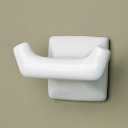 Adelle China Robe Hooks - The Adelle China Robe Hook has a simple, yet classic design making it easy to blend with any bathroom decor.