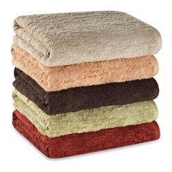 Portico - Portico Organic Slub Bath Towel in Colors - Indulge in pure comfort with the soft and natural Portico Slub bath towel. Reach for this plush, absorbent towel when you step out of the tub or shower.