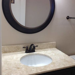 Bathroom Countertops - Chelsea Beige vanity top.