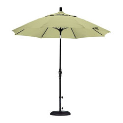California Umbrella - California Umbrella Patio Umbrellas 9 ft. Fiberglass Collar Tilt Patio Umbrella - Shop for Outdoor Patio Furniture at The Home Depot. Designed for convenience value and performance California Umbrella products bring the full weight of our design experience to your table. California Umbrella pioneered and developed the original and revolutionary Collar Tilt feature to tilt your umbrella to any degree you wish while you enjoy the afternoon and evening outside. We still boast the widest tilt degree in the Market allowing you to stay outside longer with your family and friends. Pacifica NEW by California Umbrella is a solution dyed polyester fabric perfected for use with our umbrellas. Our proprietary selection offers tremendous possibilities for color varieties and performance shade fabric. Color: Matted Black.