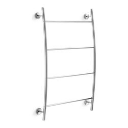 WS Bath Collections - Noanta 52389.29-G Self-Adhesive Towel Shelf - Noanta by WS Bath Collections Bathroom Towel Rack in Polished Chrome