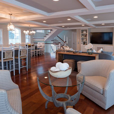 Beach Style Living Room by CANDICE ADLER DESIGN LLC