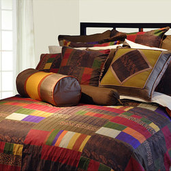None - Marrakesh Twin-size Duvet Cover Set - Bright patches of color make this set an elegant addition to your bedroom. This multicolor twin sized duvet cover and sham set is made of 100 percent cotton and features a contemporary patchwork design,offering you both comfort and a luxurious look.