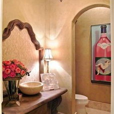Mediterranean Powder Room by Classic Designs by Brook