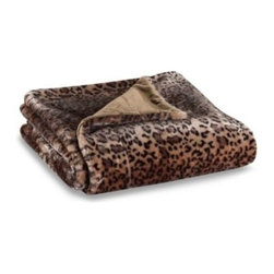 Ellery Holdings Llc - Leopard Faux-Fur to Micro-Mink Reversible Throw - Getting cozy never felt so good. Enjoy the exceptional style and warmth of this microfilament leopard design throw blanket. Plush faux-fur reverses to silky micro-mink to offer the ultimate in fashion and function.