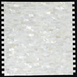 2mm thickness 3/8x4/5 inch Mother of Pearl Tile - shell mosaic tiles PEM0060 - Collection: Light Weight Mother of Pearl Tile