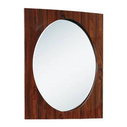 "Global Furniture - New York Mirror in Kokuten Finish - New York Mirror in Kokuten Finish Feautures: Finish: Kokuten;Material/s: MDF,Paper Veneer;Weight: 62 lbs.;Dimensions: L35"" / D3"" / H45"""