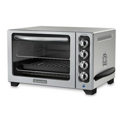 Kitchenaid - KitchenAid 12-Inch Convection Bake Countertop Oven in Countour Silver - The 12'' convection bake oven from KitchenAid gives a full size oven performance on the countertop. Convection bake pies or individual desserts, broil tender whole chickens with crisp skins, toast with precision and warm and reheat without browning.