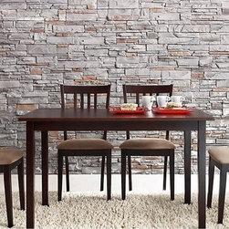 Wholesale Interiors - Sharon Brown Wood 5-Piece Modern Dining Set - 1429163 -142 - Contemporary dining set