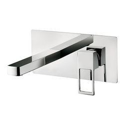 WS Bath Collections - Effe EF 101 Wall Mounted Bathroom Faucet - Effe by WS Bath Collections, Wall Mounted Concealed Single Lever Bathroom Faucet, in Polished Chrome