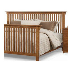 """A-America - Mission Slat Headboard - The Mission bedroom collection makes a timeless and versatile addition to any home. Each piece is crafted of American ash, in an inviting warm brown Mission oak finish. Case pieces are English dovetailed with self closing glides. Features: -Mission collection. -Golden Brown finish. -Material: Solid ash. Dimensions: -Queen: 48.9"""" H x 69.5"""" W x 4.5"""" D, 57.32 lbs. -King: 63.93 lbs."""