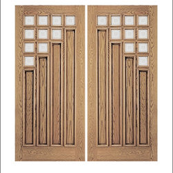 Unique Entry Doors Model # 106 - Our Unique doors fit a wide array of home styles, from traditional to contemporary.  One of the unique features of this collection is the rich raised moulding which appears on both sides of the door.  Many doors in this collection also have matching sidelites and transoms.  The products are pictured in Oak, however they are available in both Oak and Mahogany.  Call 877-929-3667 to find out more information on your favorite door!