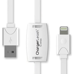ChargerLeash - Chargerleash Charge & Sync Smart Lightning Cable with Loss Prevention Technology - Chargerleash Charge & Sync Smart Lightning Cable with Loss Prevention Technology for Apple Iphone 6/6plus/5/5s, Ipad 4, Ipad Mini and Ipad Air