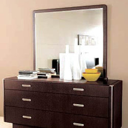 Meti Double Dresser By Doimo - Enjoy the unabashedly exclusive and yet simple looks of this dresser with bedroom mirror every time you dress yourself up. Done in a rich Wenge finish, Meti features three abundantly spaced drawers for storing clothes and accessories.