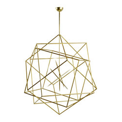 Hubert le Gall Polyedres Chandelier - I'd love to hang this beauty over my dining room table as a perfectly glamorous conversation starter.