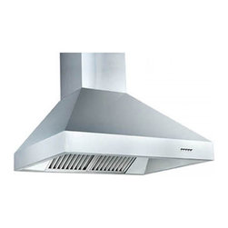 """Z Line Kitchen and Bath - ZL697- Wall Mounted Range Hood, 30"""", Standard Chimney for 9-9.5 Ft. - The ZL697- Wall Range Hood offers combines style and high-performance all in one.   A heavy-duty base and wide face gives this range hood a sleek contemporary look for any style kitchen.  This range hood comes complete with hood, standard chimney, mounting bracket, 6"""" outlet with back draft damper, vent kit and hardware.  Available in sizes: 30"""", 36"""", 42"""", 48"""", 54""""and 60""""."""