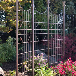 Three Panel Garden Screen - Our Garden Screen can be used indoors as well as outdoors on a patio it defines a space and gives privacy in the garden it will add structure and height. Spikes are provided to mount each post securely in the ground of your garden.