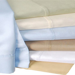 Bed Linens - Cotton 440 Thread Count Solid Sheet Set Full Taupe - 440 Thread Count Solid Sheet Sets