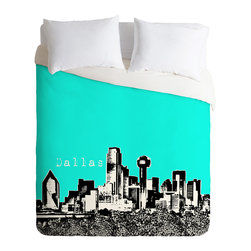 DENY Designs - DENY Designs Bird Ave Dallas Aqua Duvet Cover - Lightweight - Turn your basic, boring down comforter into the super stylish focal point of your bedroom. Our Lightweight Duvet is made from an ultra soft, lightweight woven polyester, ivory-colored top with a 100% polyester, ivory-colored bottom. They include a hidden zipper with interior corner ties to secure your comforter. It is comfy, fade-resistant, machine washable and custom printed for each and every customer. If you're looking for a heavier duvet option, be sure to check out our Luxe Duvets!