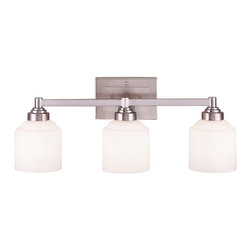 Savoy House - Wilmont 3-Light Bath Bar - Streamlined in simple elegance, this full family of fixtures delights with contemporary distinction; etched opal white glass and pewter finish