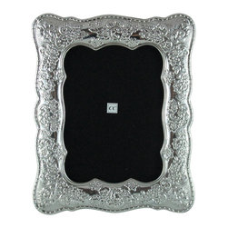 Sterling Silver Picture Frame / Primavera-Spring, 5x7 - -Made from 950 Peruvian sterling silver