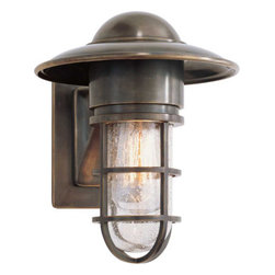 MARINE WALL LIGHT - When searching for lighting, don't rule out bringing outdoor style lights indoors. This wall sconce will add industrial style to your interior. It also has nautical style, making it a great choice for a coastal cottage.
