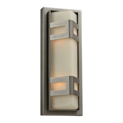 PLC Lighting - PLC 2 Light Outdoor Wall Fixture Sasha Collection 8043/CFL BZ - -Finish: Bronze