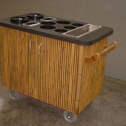 Decorative Boards - Faux bamboo pole panel cart