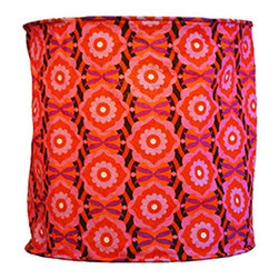 Modelli Creations - Hanging Lamp Shade in Vintage Flower Geometric Pink Design - Let your imagination ignite with this Journey of India Collection Hanging Lamp Shade with Vintage Flower Design in Pink. Beautiful ancient Indian motifs combined with modern colors and patterns create bold and brightening designs to excite any space.