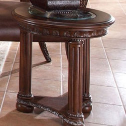 AICO Furniture - Chair Side Table - N53222-46 - This Price Includes:
