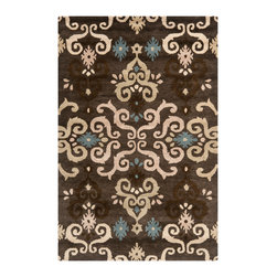 Safavieh - Dumont Hand Tufted Rug, Brown / Multi 2' X 3' - Safavieh's artistry is vividly displayed in the Wyndham collection with designs ranging from contemporary florals to traditional global motifs.  Each richly-hued rug is hand-tufted by master weavers in India of top quality wool. Several designs recreate the one-of-a-kind look of fashionable over-dyed antique rugs using a special multi-colored yarn that is meticulously colored using ages-old pot dyeing techniques. After the dye is carefully applied to each strand of wool, touches of organic viscose are added for soft silky luster as special highlights accents.